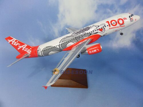 亞洲航空公司 Air Asia ( 100th Dragon Awesome Plane百龍騰飛 ) / A320  / 1:100